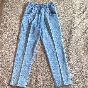 80's VINTAGE Acid Wash Mom Jeans